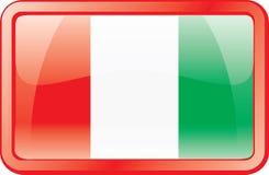 Ícone da bandeira de Italy Foto de Stock