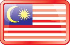 Ícone da bandeira de Malaysia Imagem de Stock Royalty Free