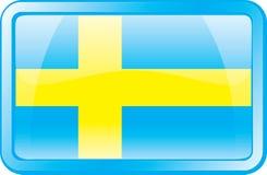 Ícone da bandeira de Sweden Fotos de Stock