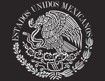 Ícone da bandeira mexicana Fotografia de Stock