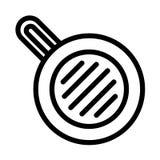 Ícone da bandeja de fritada da refeição, estilo do esboço ilustração stock