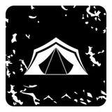 Ícone da barraca, estilo do grunge ilustração royalty free