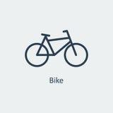 Ícone da bicicleta Vetor Fotos de Stock
