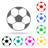 Ícone da bola de futebol Elementos da escola e ícones coloridos do estudo de multi Ícone superior do projeto gráfico da qualidade ilustração stock