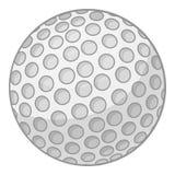 Ícone da bola de golfe, estilo dos desenhos animados ilustração do vetor