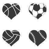 Ícone da bola do coração ilustração do vetor