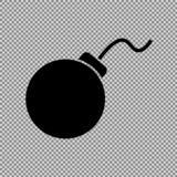 Ícone da bomba, ilustração do vetor ilustração stock