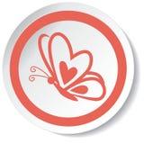 Ícone da borboleta Imagens de Stock Royalty Free
