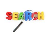 ícone da busca 3d Fotos de Stock