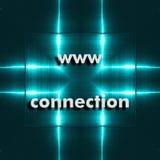 Ícone da busca da Web de WWW No fundo nós temos a placa de alumínio refletindo azul Imagem de Stock