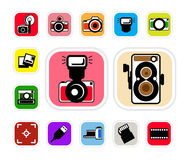 Ícone da câmera Fotografia de Stock