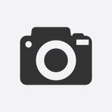 Ícone da câmera no fundo branco Imagem de Stock