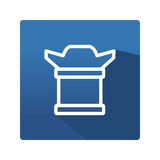 Ícone da câmera no plano Imagem de Stock