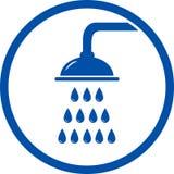 Ícone da cabeça de chuveiro Fotos de Stock Royalty Free