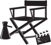 Ícone da cadeira do diretor Fotografia de Stock