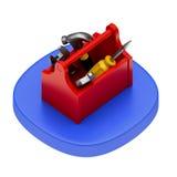 Ícone da caixa das ferramentas Fotografia de Stock