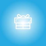 Ícone da caixa de presente pelo tempo da celebração Foto de Stock Royalty Free