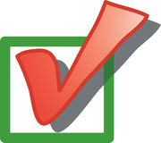 Ícone da caixa de verificação Imagem de Stock