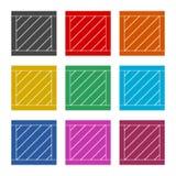 Ícone da caixa ou logotipo de madeira, grupo de cor ilustração stock