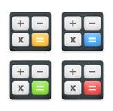 Ícone da calculadora Fotografia de Stock