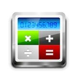 Ícone da calculadora do vetor Imagens de Stock