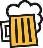Ícone da caneca de cerveja esquadrado ilustração do vetor