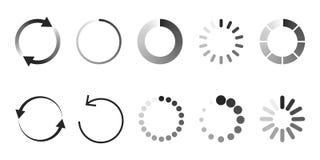Ícone da carga Carregador ou preloader do amortecedor do Web site do círculo ilustração royalty free
