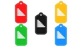 Ícone da carta da eficiência, sinal, ilustração 3D Fotos de Stock Royalty Free