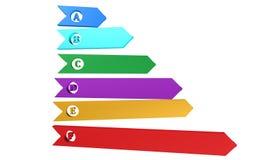 Ícone da carta da eficiência, sinal, ilustração 3D Foto de Stock