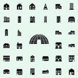 ícone da casa do gelo abrigue o grupo universal dos ícones para a Web e o móbil ilustração do vetor