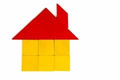 Ícone da casa do Tangram Fotografia de Stock Royalty Free