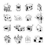 Ícone da casa, ilustração do vetor Imagem de Stock Royalty Free