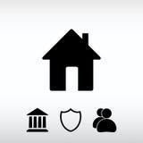 Ícone da casa, ilustração do vetor Estilo liso do projeto Fotos de Stock