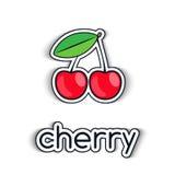 Ícone da cereja em um estilo liso Foto de Stock