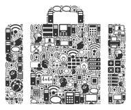 Ícone da colagem da bagagem para BigData e computação ilustração stock
