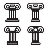 Ícone da coluna em quatro variações Vetor EPS 10 Imagens de Stock