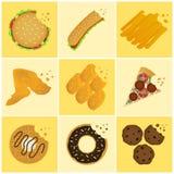 Ícone da comida lixo ilustração stock
