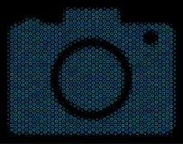 Ícone da composição da câmera da foto das bolhas de intervalo mínimo ilustração royalty free