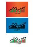 Ícone da compra e venda de ações da finança Imagens de Stock
