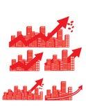 Ícone da compra e venda de ações da finança Foto de Stock