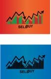 Ícone da compra e venda de ações da finança Imagens de Stock Royalty Free