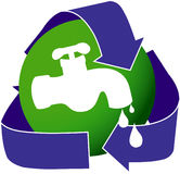 Ícone da conservação de água Imagem de Stock Royalty Free