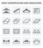 Ícone da construção do telhado ilustração stock
