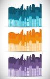 Ícone da construção e da torre Projeto da cidade Gráfico de vetor Imagens de Stock