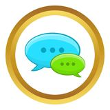 Ícone da conversação da bolha do discurso ilustração royalty free