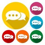 Ícone da conversa, ícones da bolha do discurso do vetor ilustração stock