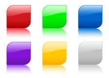 Ícone da cor com reflexão ilustração stock