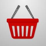 Ícone da cor do carrinho de compras Fotos de Stock