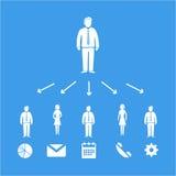 Ícone da delegação Imagem de Stock Royalty Free