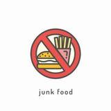 Ícone da dieta saudável ilustração stock